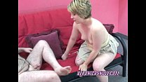 Blonde Veronica sucking an old dudes stiff cock Preview