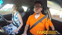 Fake Driving School pink nipples big tits redhe...