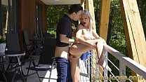 Dane Jones Young blonde wife Zazie Skymm footru...