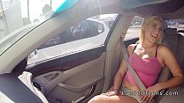 Hot blonde teen hitchhiker banging in the car thumbnail