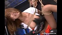 Spicy Japanese Hogtied And Dominated In Bondage Threesome thumbnail