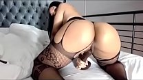 Sexy Latina fucking herself
