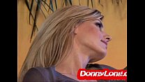 Donny Long breaks skinny milf asshole and DP he...