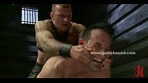 Gay sex slave gets bound and flogged
