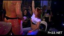 Drunk cheeks in club screwed and sucked disrobe dancers pecker