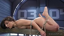 Brunette in rope bondage anal fucked pornhub video