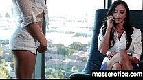 teen Eats MILF Pussy at Oily threesome 9 thumbnail
