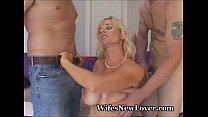 Wet MILF Bangs Two New Lovers