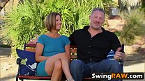 Couples organizing swinger orgy in reality show