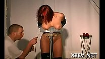 Sexy fetish scenes with babe having her boobs tortured porn image