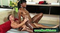 Slippery nuru massage with skinny teen 18