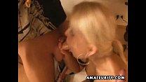 Amateur FMM threesome with double blowjob and facials Vorschaubild