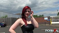 Thick Busty Redhead Public Pissing pornhub video