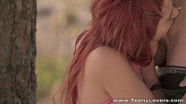 redhead teeny margo fucked a park teen - porn thumbnail