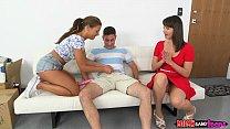 moms bang teen » Mom and stepdaughter share thumbnail