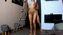 Fucking On The Ladder! Standing Sex With Hot Blonde! AliceMargo.com porn thumbnail