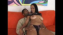 Hot ebony booty gets black cock plowed