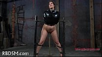 Lusty caning for tough babe