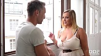 Smoking hot babe with big tits Krystal Swift loves his big hard boner thumbnail