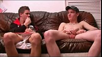 Gay chav cons straight chav mate into sex session