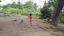 Nude in San Francisco:  Hot Asian Girl Explores Public Park Naked Image