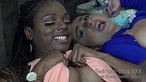 Interracial Lesbians Eat Pussy At The Love Shac