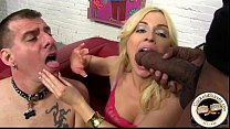 blonde wife worships black masters big cock