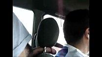 jerk off in taxi/paja en taxi.