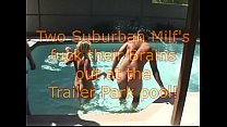 2 Trailer Park wives at POOL Home Movie
