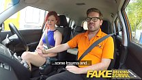 Fake Driving School Instructor fucks and creampies sexually frustrated redhead thumbnail