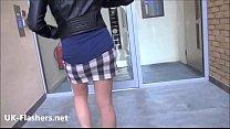 Blonde voyeur Axa Jays blowjob and public flash... Thumbnail