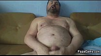 Chubby Guy Masturbating On The Couch