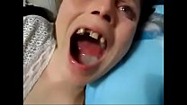 gap toothed hillbilly slut taking a mouthful of cum {hd korean xvideos} preview image