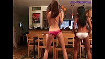 Asian-White-Teen-Strip-Off