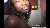 Pretty Eyes Ebony Sucks Cocks Of All Colors In ... Thumbnail