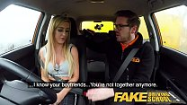Fake Driving School Big tits learner ends lesson with hot tight anal sex Image