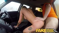 Fake Driving School Big tits learner ends lesson with hot tight anal sex preview image