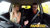 Fake Driving School Big tits learner ends lesson with hot tight anal sex - 9Club.Top
