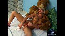 Blonde teen Jessica Florentino first time playing dildo pornhub video