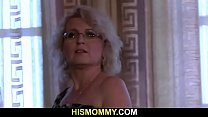 Old Mommy Awakes Teen For Lesbian Sex