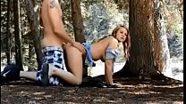 Young couple fuck in the woods - kimberlybabe.com Thumbnail