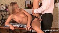 Sexy blonde babe gets her wet cunt