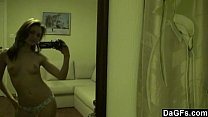 Little beauty teases with her fit body on camera