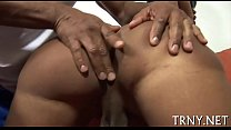 Teen tranny receives messy & creamy