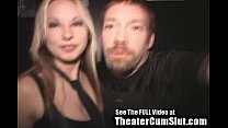 Cum Slut Zoe Gets Jizz Coated & Creampied In Public Porn Theater image