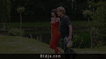 Young Sexy Girl Blowjob For Old Man And Swallows