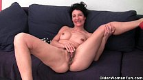 Dirty shitty anal ◦ Granny hides a full bush in her soaked panties thumbnail