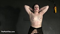 Tit whipping and pussy pain of struggling slave Isabel Dean in hardcore impact p