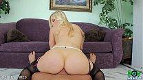 Blond Ashley Fires suck a big cock in POV