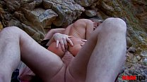 Skinny spannish milf fucked hard in the ass at the beach thumbnail